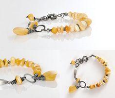 Amber Bracelet Natural Butterscotch Baltic Amber by AnnaBujak