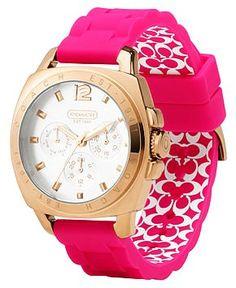 COACH Boyfriend Watch For Women - Silicon Rubber Strap Watch For Women #pink #watch www.loveitsomuch.com