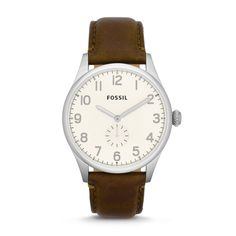 The Agent Three-Hand Leather Watch – BrownFS4851 | FOSSIL ®