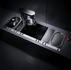 Gaggenau CX 491 Induction Cooktop State of the Art Cooking Technology  Today is the long awaited day, the doors of New York's Ar. Built In Kitchen Appliances, Kitchen Hoods, Kitchen Shop, Kitchen Pantry, Kitchen Gadgets, Kitchen Storage, Kitchen Decor, Home Appliances, Kitchen Stuff