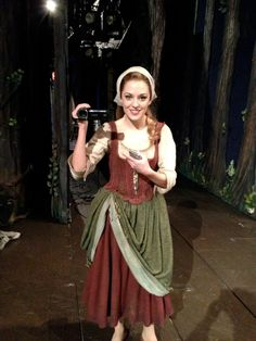 Laura Osnes filming Princess Diaries for Broadway.com