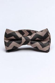 Chevron bow tie