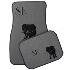 Elephant Monogram Car Floor Mats