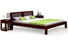Lynet Bed (Mahogany Finish) Double Bed With Storage, Platform Bed With Storage, Wooden Double Bed, Double Beds, Wooden Street, Buy Bed, Beds Online, Queen Size Bedding, Bed Storage