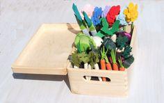 Felt Fabric Vegetable Garden Play Pretend Veggies Food Big Set