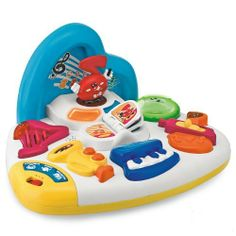 Chicco Toys Sing 'N Learn Orchestra by Chicco. $24.94. From the Manufacturer                Chicco's new talking musical activity center lets a child discover the elements of an orchestra. The child is the true main character: they discover the instruments that introduce themselves by speaking and playing, and can sing along to the fun songs. Sing 'N Learn Orchestra has 3 musical styles: Pop, Jazz and Classical and 3 play modes: Instruments, Songs, Orchestra. All the inst...