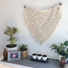 Is it ok to play favourites cos... Sacred is listed for sale with 15% off at the moment along with all ready to ship items! #thelotuscollection #wallflowerandwyattlotuscollection #macrame #macramewallhanging #macramesale #etsysale #etsy #bohostyle #bohodecor