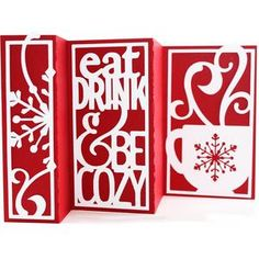 Silhouette Design Store - View Design #108799: accordion fold card - eat drink be cozy