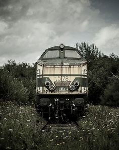 "Rusted abandoned old train - an era before government owned ""American-Track"" Amtrak"