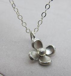 Petite Flower Necklace - KathrynRiechert