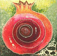 Pomegranate spiral of life & renewal