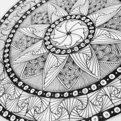 Mandala love  #zentangle #lovezen #binazen