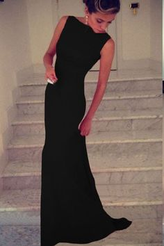 saias femininas 2014 Black Elegant Sleeveless Maxi Long Evening Dress LC6743 Women Gown Casual Dresses vestido de festa longo