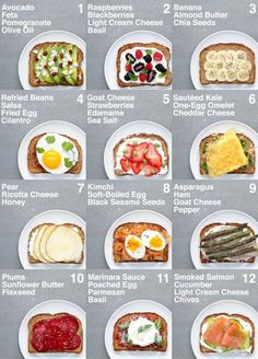 SUPER HEALTHY TOAST (For veganvegetarian plant base and non plant base or vegetarian)You do not. and Drink healthy lunch ideas Food 🥦🍎❤️🥰 Healthy Meal Prep, Healthy Recipes, Healthy Breakfast Recipes For Weight Loss, Diet Recipes, Healthy Nutrition, Protein Rich Recipes, Healthy Workout Meals, Kids Healthy Lunches, Grocery List Healthy