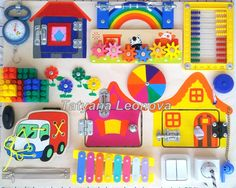 Busy Board Color hourses Activity Board Sensory