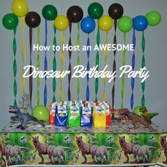 How to Make An AWESOME Dinosaur Birthday Party Honeysuckle