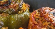 Absolutely delicious dishes you need to try. Kitchen Recipes, Cooking Recipes, Healthy Recipes, Galaktoboureko Recipe, Greek Stuffed Peppers, Greek Cooking, Greek Dishes, Main Dishes, Greek Recipes