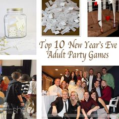 10 New Year's Eve Adult Party Games Holiday fun. Top 10 New Year's Eve Adult Party GamesHoliday fun. Top 10 New Year's Eve Adult Party Games New Years Eve Games, New Years Eve Day, New Years Party, New Years Eve Party Ideas For Adults, Adult Party Games, Birthday Party Games, Adult Games, Birthday Eve, Nye Games