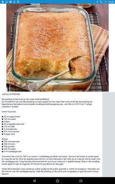 Tart Recipes, Pudding Recipes, Sweet Recipes, Baking Recipes, Dessert Recipes, Hot Desserts, South African Desserts, South African Recipes, Easy Microwave Recipes