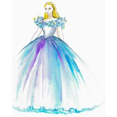 First Look The Making of Cinderella's Wedding Gown ❤ liked on Polyvore featuring disney, cinderella, fillers, sketch and backgrounds