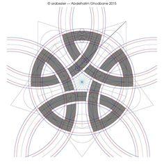 Geomteric construction by Abdelhalim Ghodbane Islamic Art Pattern, Pattern Art, Geometry Art, Sacred Geometry, Geometric Designs, Geometric Shapes, Geometric Construction, Unique Symbols, Geometric Drawing