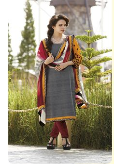 Black,maroon and yellow suit. Price, Rs 2199.00