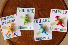 Dinosaur Valentine Cards @pinguanzo I thought of Tonio.