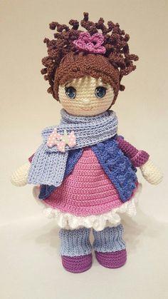Amigurumi Crochet Molly Doll F Doll Patterns Free, Amigurumi Patterns, Amigurumi Doll, Pattern Ideas, Knitted Dolls, Crochet Dolls, Crochet Doll Pattern, Crochet Patterns, Crochet Crafts