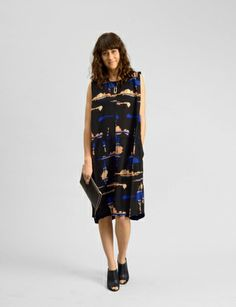 A Detacher lottie slim plaid print dress at Bird : ShopBird.com #shopbird15 #SS14
