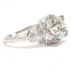 1930's Platinum & Diamond Ring, 1.86ct I-VS1