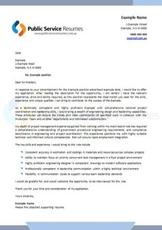 Public Service Resumes Cover Letter Example 2 Cover