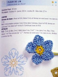 Best 11 Crochet Flower Brooch for Mom Free Pattern – SkillOfKing. Crochet Design, Crochet Diy, Crochet Motifs, Crochet Diagram, Crochet Chart, Irish Crochet, Crochet Stitches, Crochet Flower Tutorial, Crochet Flower Patterns