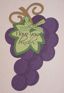 """I love you """"bunches"""" Cricut Cartridges, Fruit Of The Spirit, Love You, My Love, Paper Cards, Cute Cards, Thoughtful Gifts, Lunch Box, Card Making"""