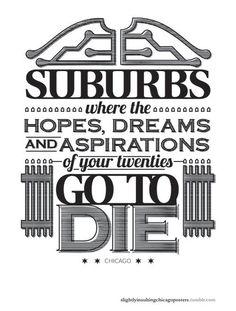 Suburbs blurb...