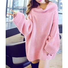 Wholesale Stylish Turtleneck Dolman Sleeve Loose-Fitting Sweater For Women Only $23.75 Drop Shipping | TrendsGal.com