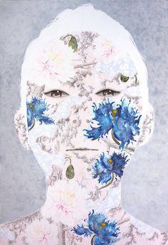 "Saatchi Art Artist Hisahiro Fukasawa; Painting, ""Tranquility no.26 face"" #art"