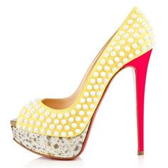 Christian Louboutin Lady Peep Spikes 140mm Peep Toe Pumps Canari Can Be Every Property Of Everyone! Owning It, You Will Own High Quality Life, Come To Purchase One! CL