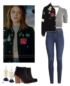 """""""Aria Montgomery - pll / pretty little liars"""" by shadyannon ❤ liked on Polyvore featuring Topshop, Stella & Dot, Jeffrey Campbell and H&M"""