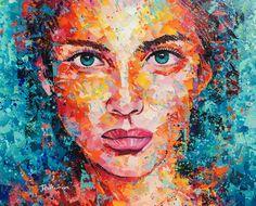 CHICA DEL MAR Acrylic on Canvas