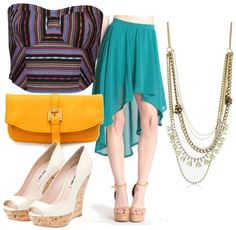 bustier with hi low skirt