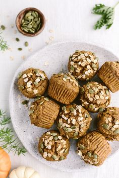 Maple-Sweetened Pumpkin Oat Muffins recipe is made with healthier whole wheat flour and sweetened with maple syrup. This recipe doesn't require a mixer.