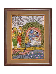 Indian Traditional Paintings, Indian Paintings, Traditional Art, Kalamkari Painting, Thailand Art, Madhubani Art, Indian Folk Art, Lord Krishna Images, Madhubani Painting