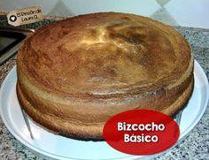 Bizcocho o bizcochuelo casero de 3 ingredientes sin levadura ni polvos leudantes. La receta paso a paso. 3 ingredient basic spongecake without baking powder. Step by step recipe. #bizcocho #bizcochuelo #torta #spongecake #cake #esponja