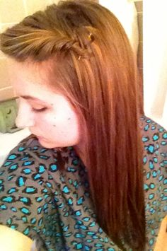 French fishtail, a cuter way to pull back bangs(: