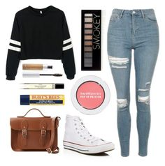 """""""Perfect"""" by issy100 ❤ liked on Polyvore featuring Topshop, Forever 21, Converse, The Cambridge Satchel Company, Burt's Bees, Bare Escentuals, Anastasia Beverly Hills, Byredo, lazy and IDONTCARE"""