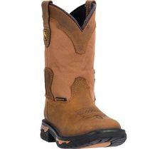 Dan Post Boots Unisex Children's Everest Cowboy Boots DPC2699 Brown Leather Size 9 D