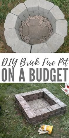 DIY Brick Fire Pit on a Budget - This project is easy to make and because its made of brick it is a sturdy pit. You will have no worries about looters stealing the metal one. diy fire pit DIY Brick Fire Pit on a Budget Make A Fire Pit, Easy Fire Pit, Small Fire Pit, Modern Fire Pit, Small Garden Ideas With Fire Pit, Fire Pit With Bricks, Brick Fire Pits, In Ground Fire Pit, Cinder Block Fire Pit