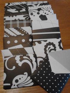 10 Handmade Mini Envelopes  Black and White by KDugasCrafts, $4.00
