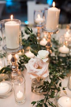 42 White Wedding Decoration Ideas ❤ white wedding decoration ideas candle decor Chris J. Evans Photography Be creative when decorating your Big day. Take a look at addorable white wedding decoration ideas in our gallery! White Wedding Decorations, Candle Wedding Centerpieces, Flower Centerpieces, Centerpiece Ideas, Wedding Arrangements, Mod Wedding, Floral Wedding, Wedding Flowers, Dream Wedding