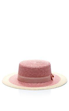 Shop Straw Skimmer Hat by Federica Moretti Now Available on Moda Operandi  Sombreros 58e5f25c84e